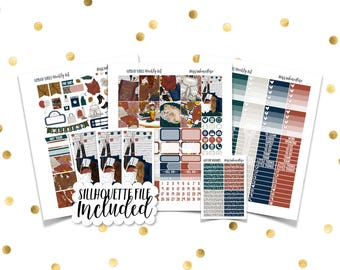 URBAN VIBES Weekly Kit // Printable Planner Stickers / Erin Condren Plum Paper Happy Planner Filofax Inkwell Press Fall Autumn Thanksgiving
