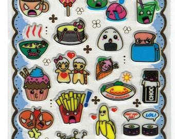 kawaii Yummy Foods Stickers