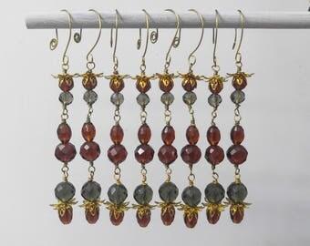 Beaded Autumn Ornaments, Set of 8