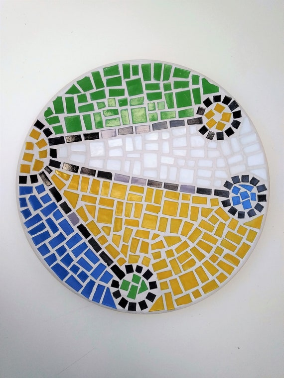 "Bamboo Mosaic Bowl ""Constellation"""