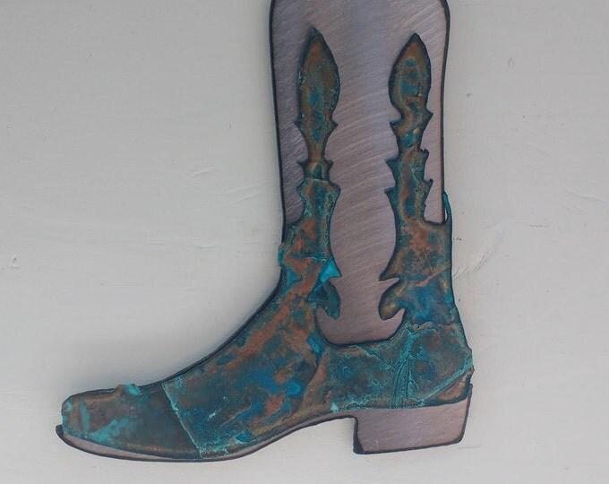 Patina Cowboy Boot Ornament
