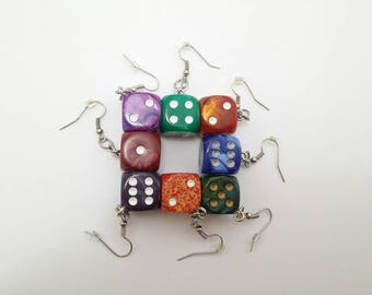 Unique Dice Earrings - Board Game Jewelry, Dice Jewelry, Board Game Earrings, Geeky gifts, Nerdy, Board Game Geek