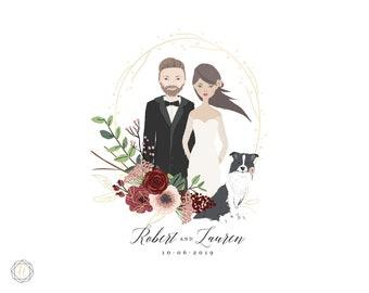 Custom Logo Design, Wedding Monogram, Wedding Logo, Illustrated Logo, Vintage Stamp Logo, Photography Logo, Personalized Logo, #IBP