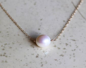 Pearl Necklace, Keshi Pearl Necklace, Bridesmaids Gifts, Choker Necklace, June Birthstone, Pearl Jewelry, Valentines Day Gifts For Her
