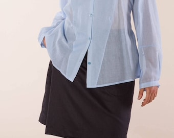 Black trouser skirt made of organic cotton, sustainable Culottes, comfortable pants skirt, elegant pants skirt pockets, fair and sustainable