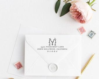 Custom Return Address Stamp, Self Ink Return Address Stamp, Personalized Address Stamp, Calligraphy Address Stamp Return Address Stamp No26