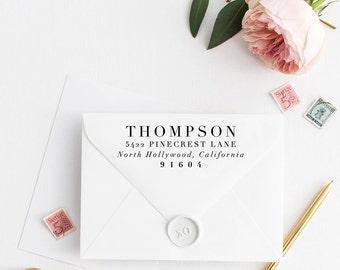 Custom Return Address Stamp, Self Ink Return Address Stamp, Personalized Address Stamp, Calligraphy Address Stamp Return Address Stamp No42