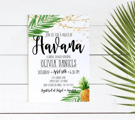 havana nights invitation cuban party cuba miami tropical