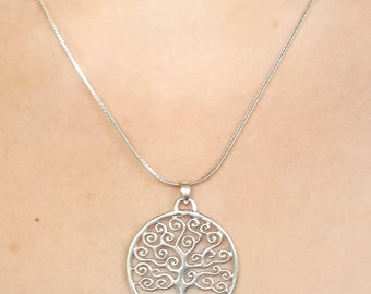Silver Tree of Life Pendant 925 Sterling Silver Tree of Life Pendant Silver Tree of Life Pendant Tree of Life Filigree Pendant Free Shipping