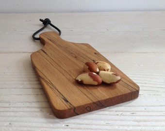Serving board, wooden chopping board, cutting board, cheese board, scottish, wood, kitchen, beech, wood, unique, handmade, camping (155)