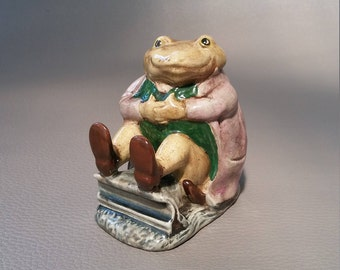 "Royal Albert, Pottery, Mr Jackson,  Royal Albert figurine,  Beatrix Potter, novel entitled ""The Tale of Mrs Tittlemouse"""