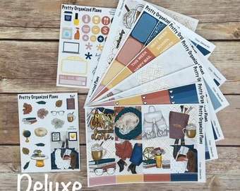 DELUXE KIT | Cozy | Weekly Sticker Kit for Erin Condren Vertical Layout | 8 Pages, 230+ Stickers