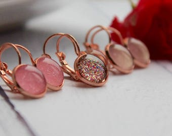 Rose Gold Earrings - Rose Gold Jewellery - Statement Earrings - Statement Jewellery