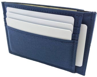 Handmade in California: Vegan Canvas Card Holder Deluxe Wallet with Cordura Nylon