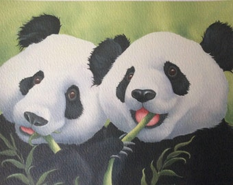 "panda painting ""Ladies That Lunch"""