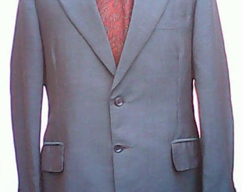 Skinhead Two Button Tailored Suit 1970s.