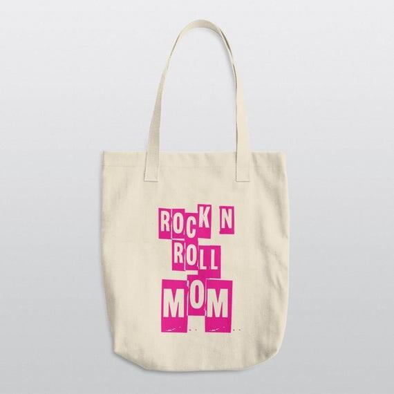 ROCK N ROLL MOM | La Apparel E549 Bull Denim Woven Cotton Tote