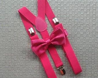 Mens suspenders, pink suspenders, bright pink suspenders, suspenders, Father and Son, Wedding, mens suspenders, groomsmen, pink suspenders