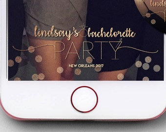Glittery Bachelorette Party Snapchat Filter   Wedding Geofilters   Filter Only