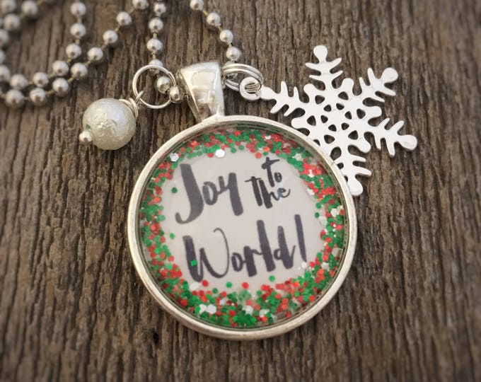 Featured listing image: Fun Glitter Christmas Pendant Necklaces