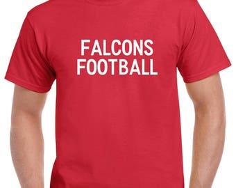 Falcons Football Shirt- Falcons Football Tshirt- High School Football Fan- Football Gift for Him