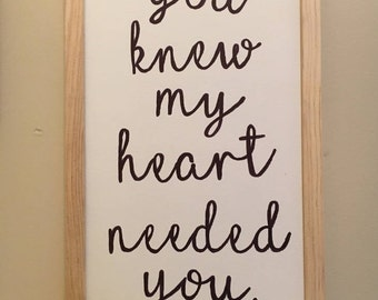 Hand Lettered Quote on Canvas Framed with wood