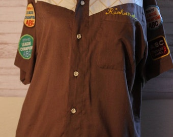 Vintage Original King Louie Men's Bowling Shirt