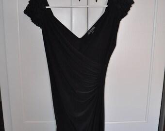 Women's Thrifted Black Dress, Women's Black Dress, Medium Black Dress, Women's Clothing, Gift for Her, Thrift Store Finds, Black Dress