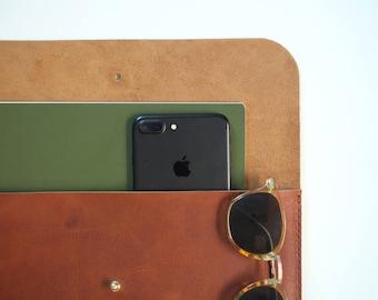 Leather Portfolio Folder - MacBook Pro Case - Leather Portfolio - MacBook Pro Sleeve - MacBook 13 - Leather Folder - Leather Laptop Case