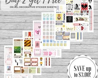 Sale Decorative Planner Stickers, Buy 2 Get 1 Free, Teacher Planner Sticker Sale, Erin Condren, Happy Planner, Lesson Planner, etc.