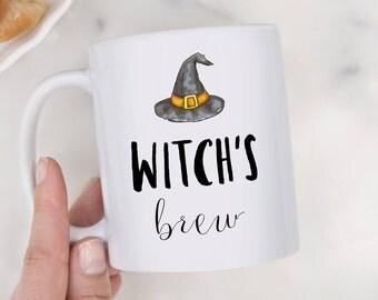 Witchs Brew Mug,Halloween Mug,Witch Mug,Halloween Gift,Halloween Mug,Halloween Cup,Witch Cup,Halloween Witch,Happy Halloween,Witch Mug