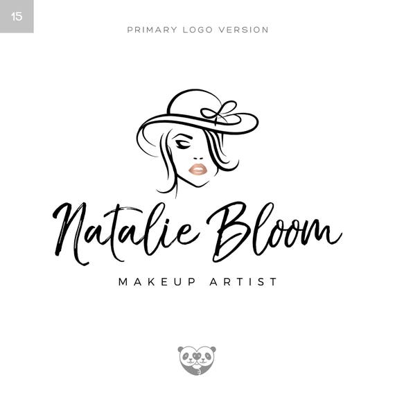 Rose Gold Makeup Logo Make Up Artist Logo Beauty Logo