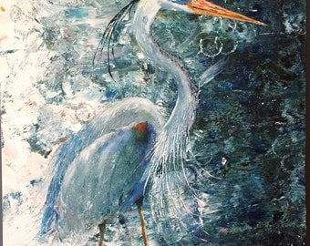 SOLD*** The Great Blue Heron