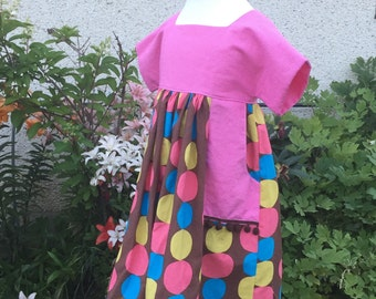 Luna: Fun, every day dress with a full, twirly skirt!