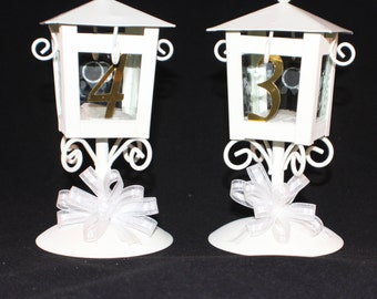Lantern Centerpieces, Table Numbers