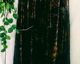 Velvet Floral Maxi Skirt