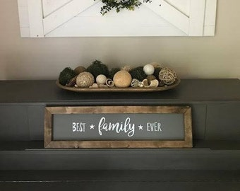 Best Family Ever Hand-painted Framed Sign