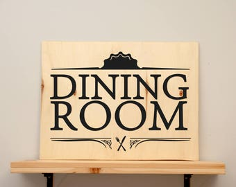 Dining room - vinyl on varnished wood (choose from 2 sizes and a range of colours) - Home decor