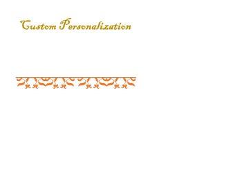 Custom Personalization Add On