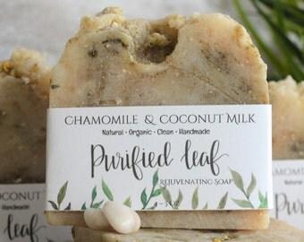 Chamomile & Coconut Milk, Rejuvenation Skin Soap, Organic Soap, Homemade Soap, Handmade Soap, Natural Soap, Soap Bar, Oatmeal, Essential Oil