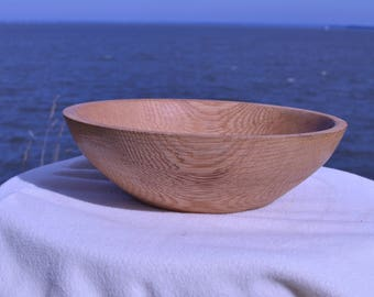 hand turned wooden bowl, reclaimed wood
