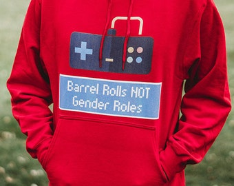 Barrel Rolls Not Gender Roles Hoodie - Gamer Gift