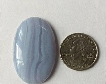42.71x27.14mm,Ovel Shape,Blue Lace,Attractive Blue Lace Agate/wire wrap stone/Super Shiny/Pendant Cabochon/Semi Precious Gemstone