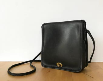 Vintage Coach Bag, Coach Crossbody Bag, Coach Purse, Coach 9620, Black Coach Bag, Coach Compact Bag, Coach Handbag, Black Leather Coach