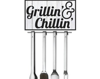 Grill, Grill Master, Grilling Gift Set, Grilling Set, Grill Set, Printable, SVG, Cut File, Cuttable, Wall Art, Print, Vector, Silhouette