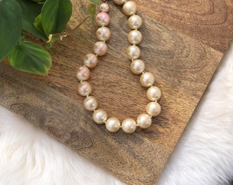 vintage faux pearl necklace | womens