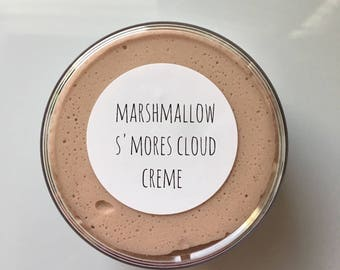 Marshmallow S'mores Cloud Creme | slime, slimeshop, snow slime, cloud creme