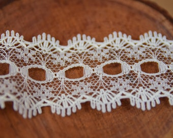 Knitting In Lace 30mm wide All White
