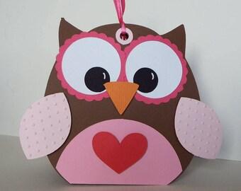 Owl treat box holder
