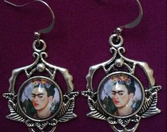 Frida Kahlo Portrait Earrings